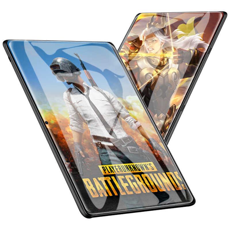 MTK6797 אנדרואיד 9.0 10 עשר Core 10 אינץ Tablet PC 6 GB RAM 128 GB ROM 8.0MP WIFI A-GPS 4G LTE 2.5D מזג זכוכית IPS 1920 1200