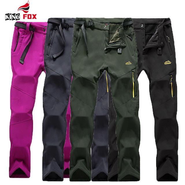 Mulheres/Homens calças dos homens Clássicos Casuais calças militares Calças Softshell inverno quente fleece outwear à prova d' água longo calça com cinto