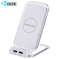 DCAE Qi Fast Wireless Charger Qi Charger Wireless Fast Phone Charger For Apple IPhone X 8
