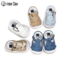 Детские сандалии для девочек; сезон лето одежда для малышей для мальчиков и девочек дышащие сандалии для детей младенцев Нескользящие туфли для новорожденных пляжная обувь 7479