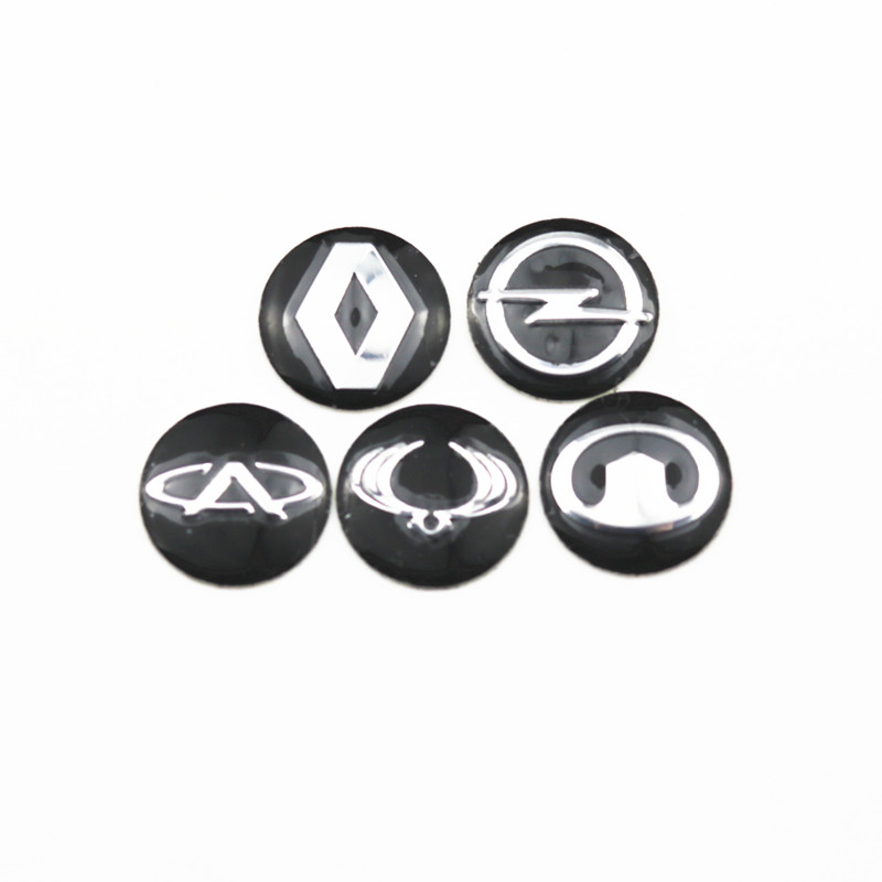 Car Styling 14mm car key stickers for Renault Megane 2 3 Opel Astra H G Corsa Insignia Astra Geely Great Wall Ssangyong Motor cid opel astra h