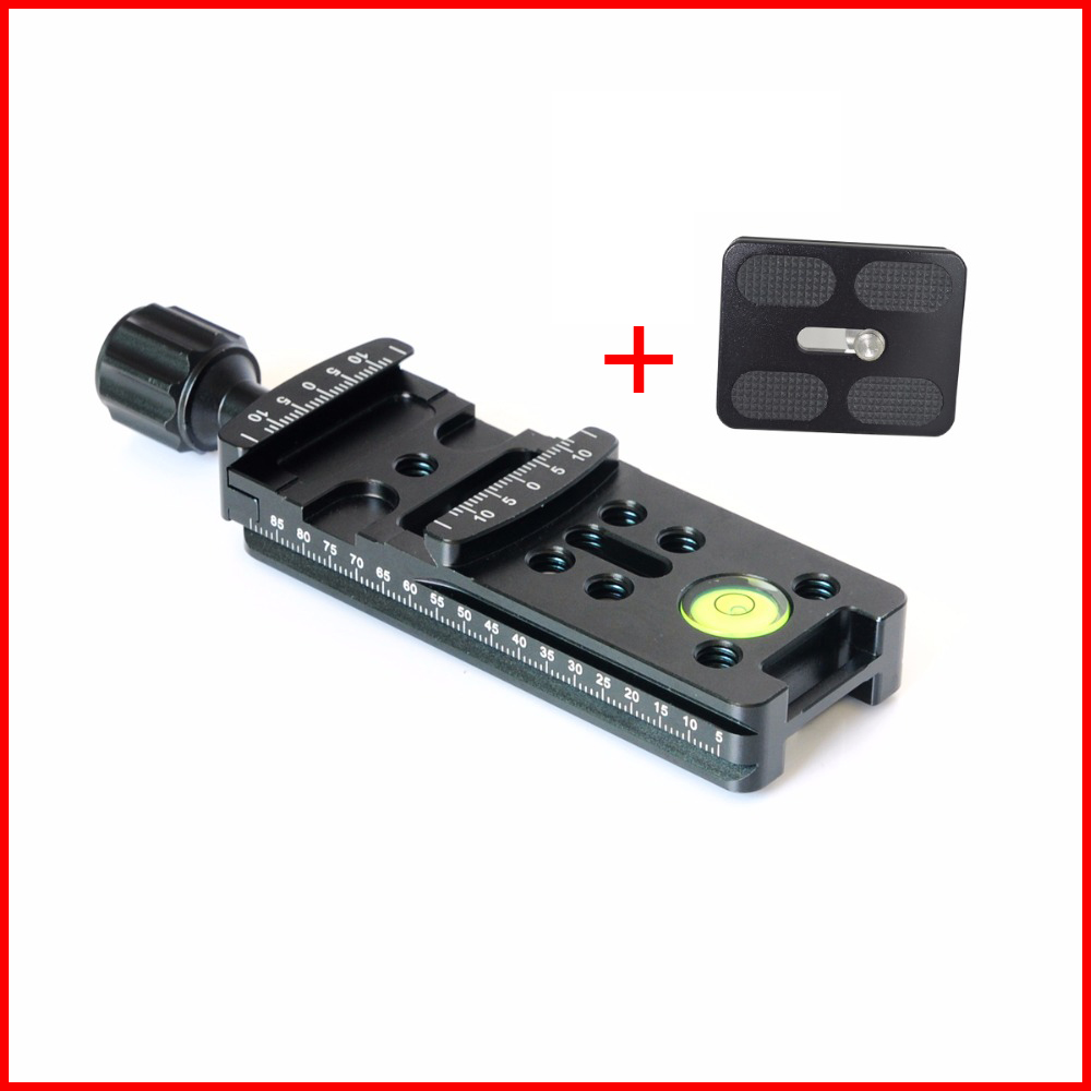 New 100mm Quick Release Clamp 1/4 Screw Hole Aluminium Alloy Long Sliding Rail Quick Release Plate Knob For DSLR Camera