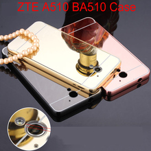 2016 Luxury Fitted Case Aluminum Frame PC Back Cover For ZTE Blade A510 BA510 Case Cover
