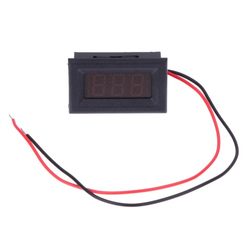 High Voltage Detector With Display : Two wires digital voltmeter blue led display dc v