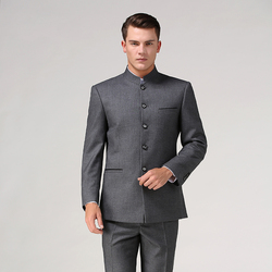 Chinese tunic suit set (Jacket+Pant) stand collar male Formal suit Chinese style tang suit Traditional Mandarin groom wear