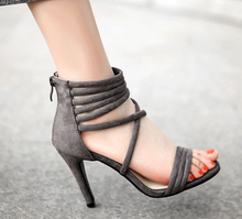 Summer Sandals Boot Gladiator High Heels Women Sexy Peep Toe Cut Outs Stilettos Pumps Shoes Woman Ankle Strap sandal boots