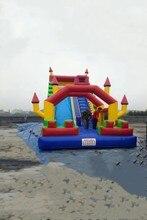 2017 Popular PVC infltable slide for family use /inflatable land slide bouncer slide
