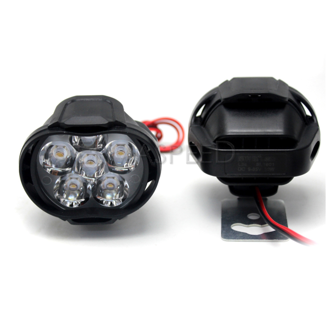 2Piece Motorcycle LED headlights Lamp With Switch Waterproof 6leds 3000K Auxiliary Motorcross Light for Honda KTM Cafe Racer BMW