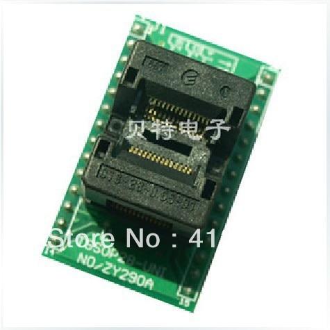 Подробнее о SmartPRO X5/X8 TSSOP28 forward ZY290C test socket adapter burn smartpro plcc44 x5 x8 programming adapter zy100b test socket adapter