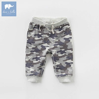 DB7682 dave bella spring baby boys fashion camouflage trousers kids pants children boutique clothes