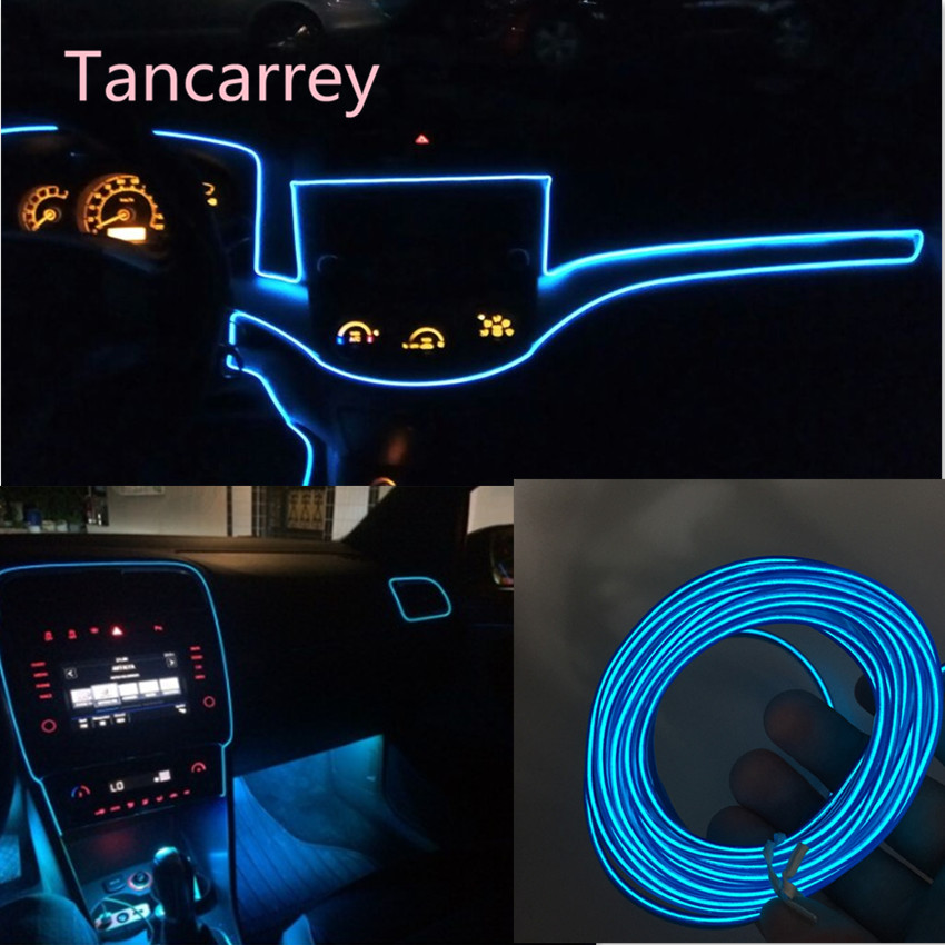 2017 new car styling <font><b>LED</b></font> <font><b>trim</b></font> strip Accessories for opel insignia hyundai tucson 2016 vw <font><b>golf</b></font> 4 renault megane 2 volkswagen polo image