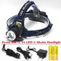 SZ60 4000 люмен Увеличить Рыбалка Охота Фары XM-L T6 LED 3-режимы Увеличить Фары Использовать 18650 Батареи USB Зарядное Устройство