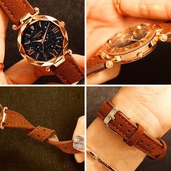 Starry Sky Watch Luxury Watch Women Leather Ladies Quartz Wrist Watch Fashion Casual Clock Female Waterproof Relogio Feminino 1