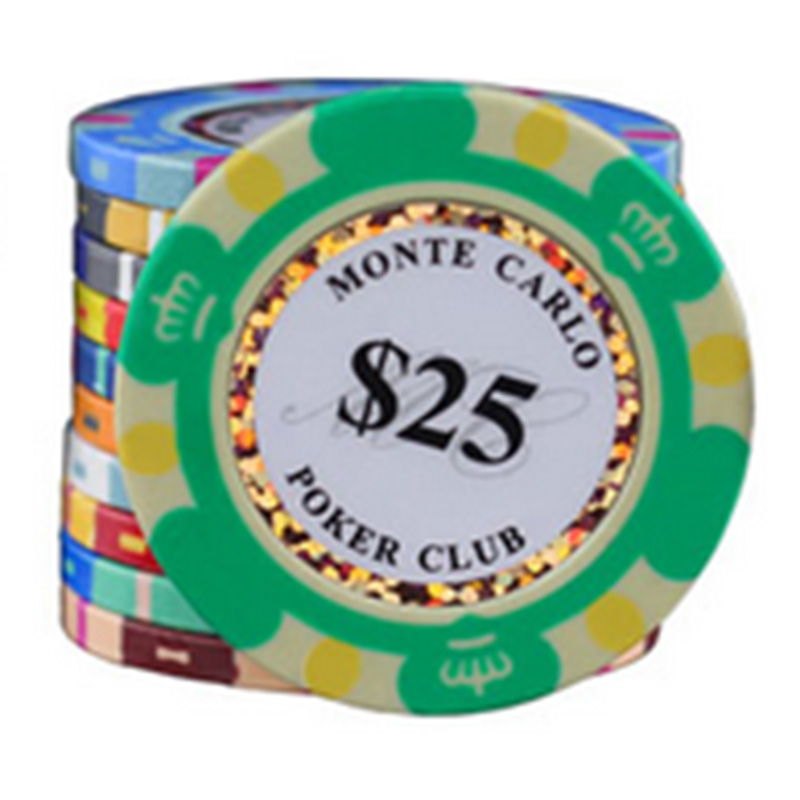 20 PCS/LOT High Quality Poker Chips 14g Clay/Iron/ABS Casino Chips Crown Texas Holdem Poker Wholesale Free Shipping