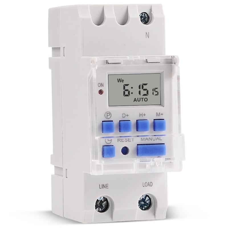 SINOTIMER 30A Load 220V 230V AC Programmable Digital TIMER SWITCH Relay Control Time Din Rail Mount