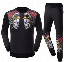 Hochwertige baumwolle Herren Trainingsanzug Set top qualität männer anzug 2017 neue mode-design