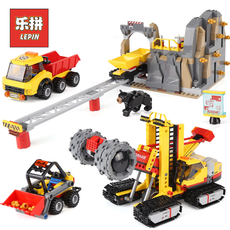Lepin 02102 City Series the Mining Experts Site Set with Dump Truck 60188 Building Blocks Bricks Funny Toys Model Kids Gifts camewin 1 pcs knee brace knee support for running arthritis meniscus tear sports joint pain relief and injury recovery