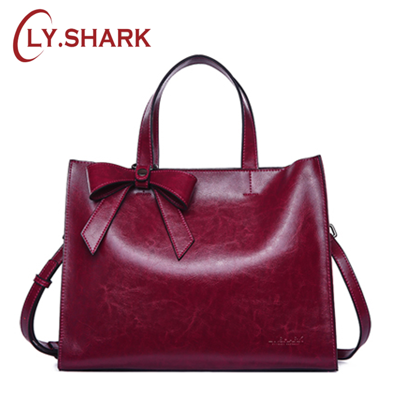 LY.SHARK New Genuine Leather Messenger Bag Women Handbag Fashion Cow Leather Shoulder Bag Female Briefcase Ladies Tote Bag BowLY.SHARK New Genuine Leather Messenger Bag Women Handbag Fashion Cow Leather Shoulder Bag Female Briefcase Ladies Tote Bag Bow