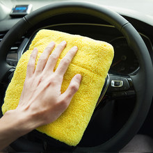 2018 new 30 * 30 cm car wash microfiber towel for Kia Rio K2 K3 K5 K4 Cerato,Soul,Forte,Sportage R,SORENTO,Mohave,OPTIMA(China)