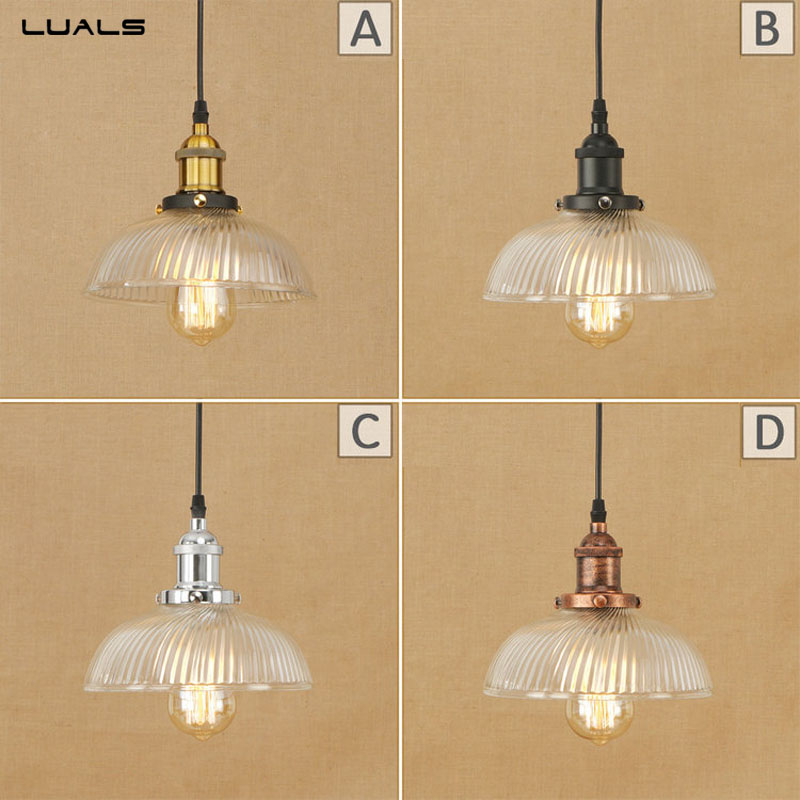 American Style Rural Retro Glass Pendant Lamp Loft  Pendant Light Adjustable Luminaire For Cafe Bar LED Pendant Lamps Lighting loft american edison vintage industry crystal glass box wall lamp cafe bar coffee shop hall store club