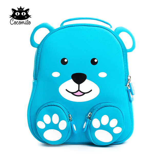 Cocomilo Brand 3D Bear Kids Cartoon Animal Backpack Schoolbag Kindergarten  Anti-lost Waterproof School Bags