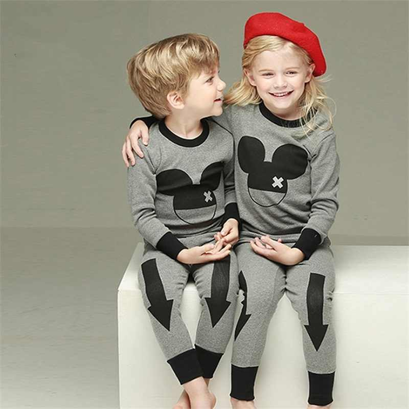 New kids clothes sets baby boys girls Cartoon minnie Cotton Pajamas sets baby kid boy Totoro Children Pullover Unisex Pijama