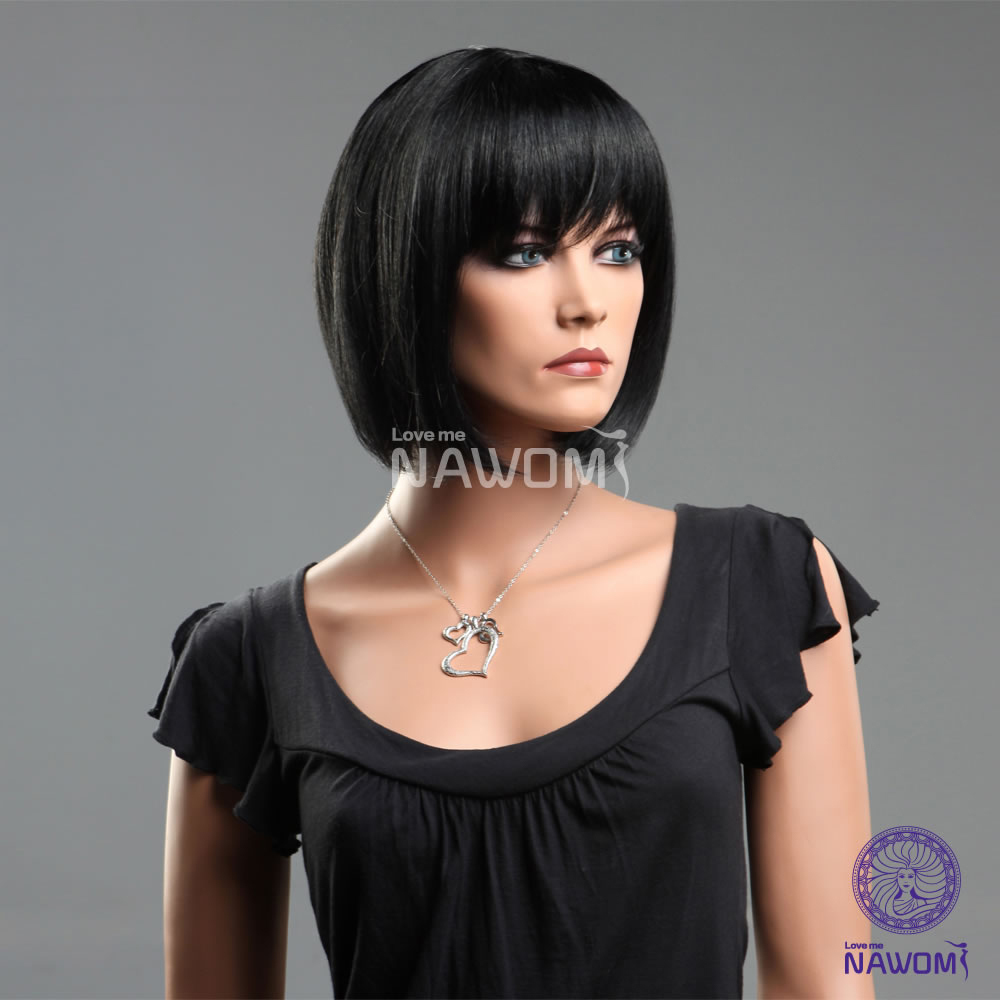 Free Shipping 100 Kanekalon Female Full Wigsstraight Short