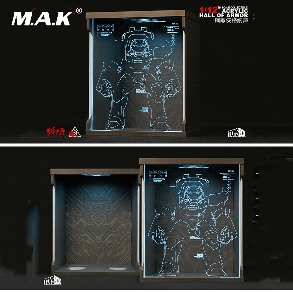 1 12 Scale Comicave Display Box Acrylic Hall for Iron Man MK38 TOYS BOX Case Dustproof