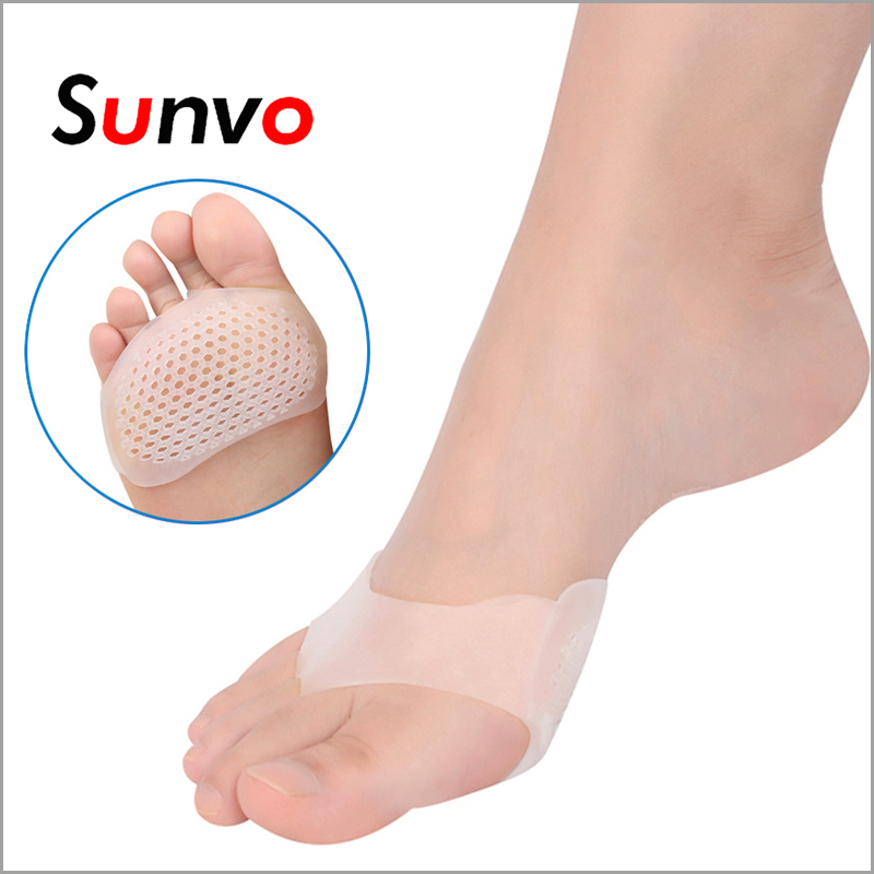 Sunvo Silicone Gel Honeycomb Forefoot Pads for Women High Heel Shoes Sore Anti-slip Half Yard Insole Pain Relief Toes Insert Pad one pair new soft gel cushion for ladies shoes forefoot pain relief high quality metatarsal sore silica sole free shipping