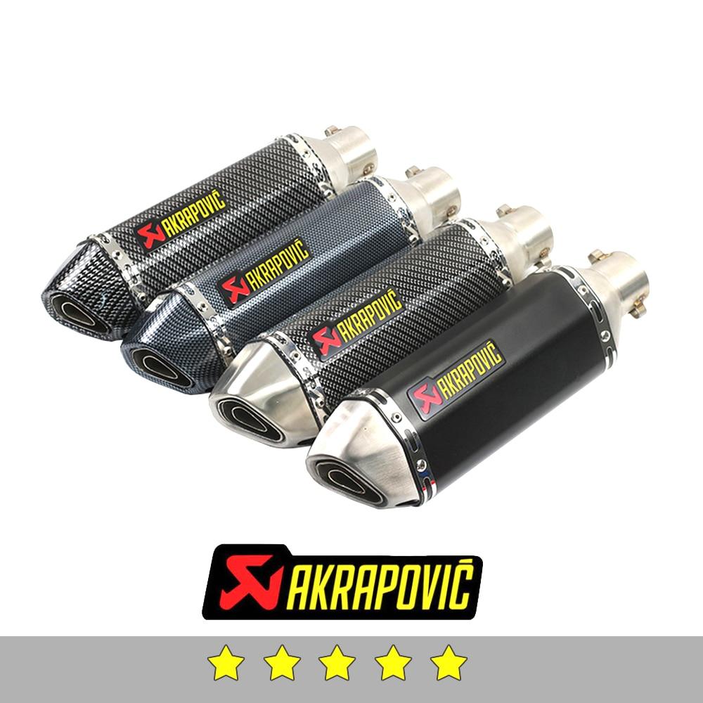 Akrapovic exhaust motorcycle exhaust muffler db killer For Yamaha r6 r3 mt 07 r1 fz6 fz1