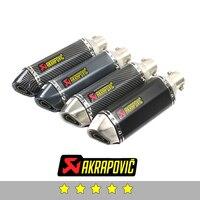 Akrapovic exhaust motorcycle exhaust muffler db killer For Yamaha r6 r3 mt 07 r1 fz6 fz1 xj6 mt 09 fjr 1300 ybr 125 aerox fazer