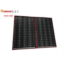Dokio 100 W 120 W 140 W (70 W x 2 Unids) 18 V Paneles Solares China Plegable Flexible Negro + 12/24 V Controlador Volt 140 Vatios de Paneles Solares