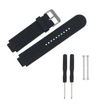 Silicone Watch Strap Replacement With Pins & Tools Smart Wrist Watch Accessory Band Strap for Garmin Forerunner 220/230/235/630 21mm soft silicone strap replacement watch bands tools lugs adapters for garmin forerunner 230 235 220 watch watch accessories
