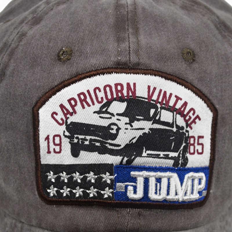 [SOTT] 1985 JUMP Letters Zomer Caps Voor Mannen Vrouwen Gewassen Retro Baseball Caps Zon Vader Hoeden Bone Casquette trucker Cap