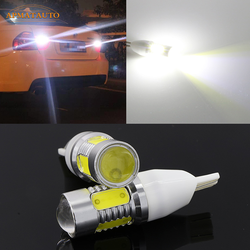 2 x T15 W16W No Error Plasma LED Projector Blub Tail Backup Reverse Lights For BMW 5 Series E60 E61 F10 F11 F07 Mini Cooper