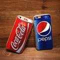 2016 nova luxury coke pepsi case para iphone 5 5s 6 6 S mais caso Beber Garrafas de Cerveja Dos Desenhos Animados Anti-knock Casos Tampa Do Telefone
