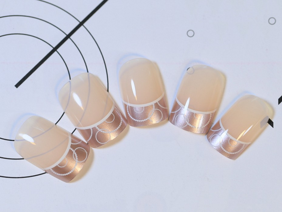 24pcs false nail art tips french acrylic artificial full for Acrylic nail decoration supplies