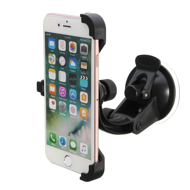 Car Windshield Suction Universal 360 Degree Rotation Phone Mount Holder Cradle Dash Suction Bracket for 4.7inch Phone For iPhone