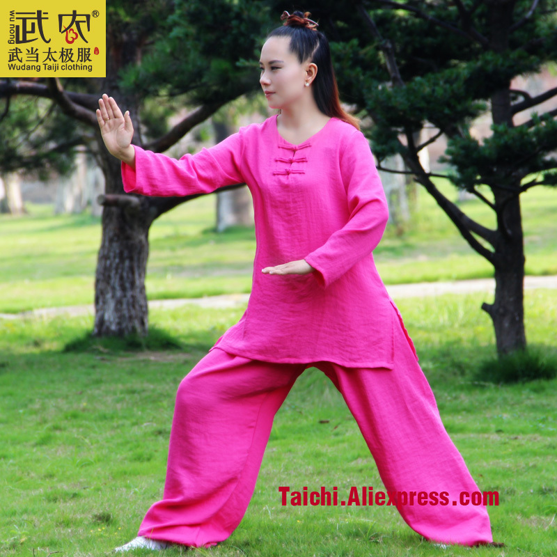 Linen Clothes  Short Sleeved Taijiquan Female Clothing Summer   Tai Chi Clothing  Kung Fu Uniform