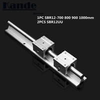 linear rail 12mm SBR12 700 800 900 1000 mm 1 pc linear guide SBR12 + 2 pcs SBR12UU blocks for CNC