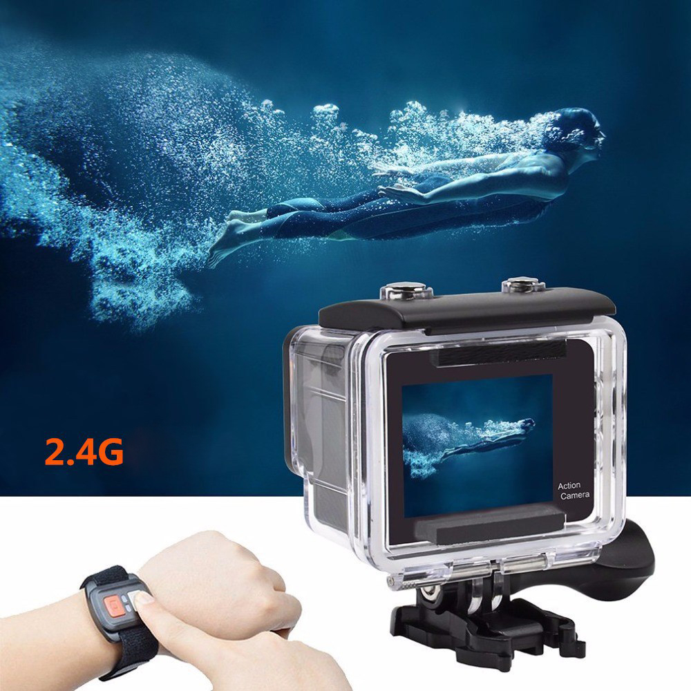 Image 3 - Ultra HD 4K Action Camera WiFi Remote Control Sports Video Camcorder DVR DV Go Waterproof Pro Camera 2 inch Touch Screen Cam-in Sports & Action Video Camera from Consumer Electronics