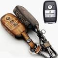 Автомобиль Из Натуральной Кожи Сумка Пульт Дистанционного Управления Ключа Автомобиля Брелок Чехол Для Kia K3/K3S/K4/K5 3 Кнопки Smart Key l751