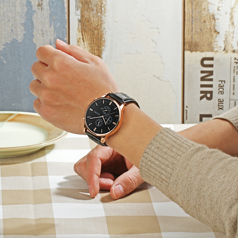 Topmerk Luxe Quartz Horloge Heren Business Casual Lederen Band - Herenhorloges - Foto 6