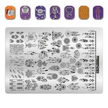 #001 Zjoy Stamping Plates BIG Plus-Size Punching For Dream Catch Stamp 3D Stencil Polish Nails stamp 1 Sheet