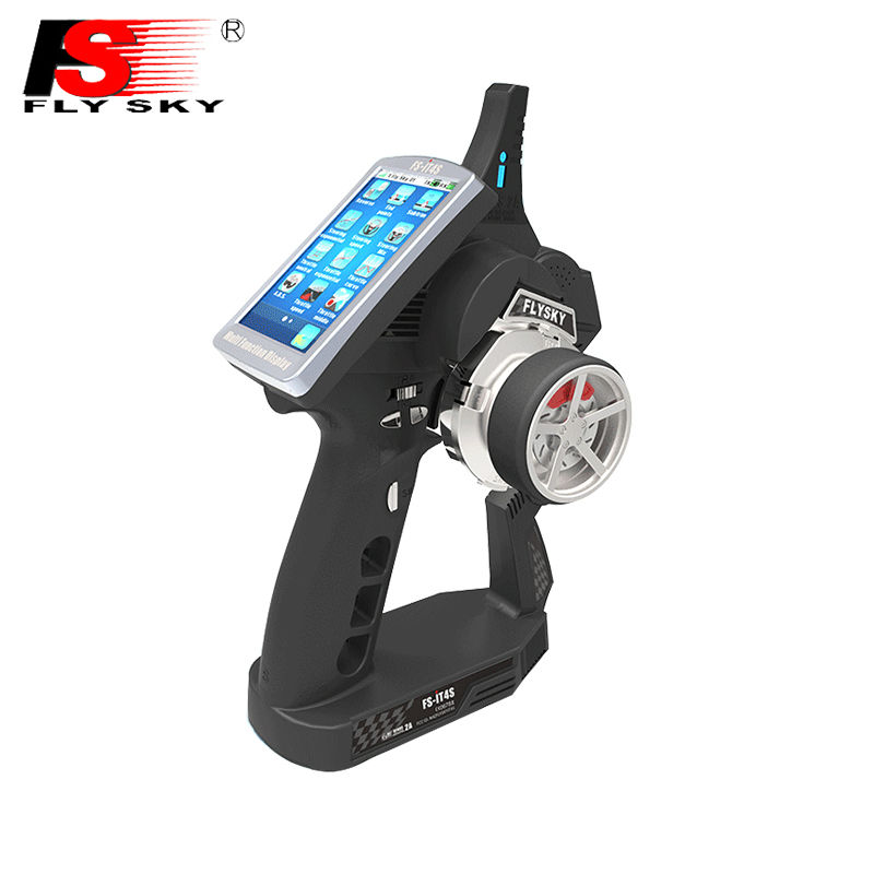 FlySky FS-IT4S 2.4GHz 4CH AFHDS 2 RC Boat Car Radio System Transmitter with Touch Screen iT4S Better than iT4 i4 flysky fs it4s 2 4g 4ch rc car boat radio system remote controller transmitter touch screen including ia4b receiver sensors