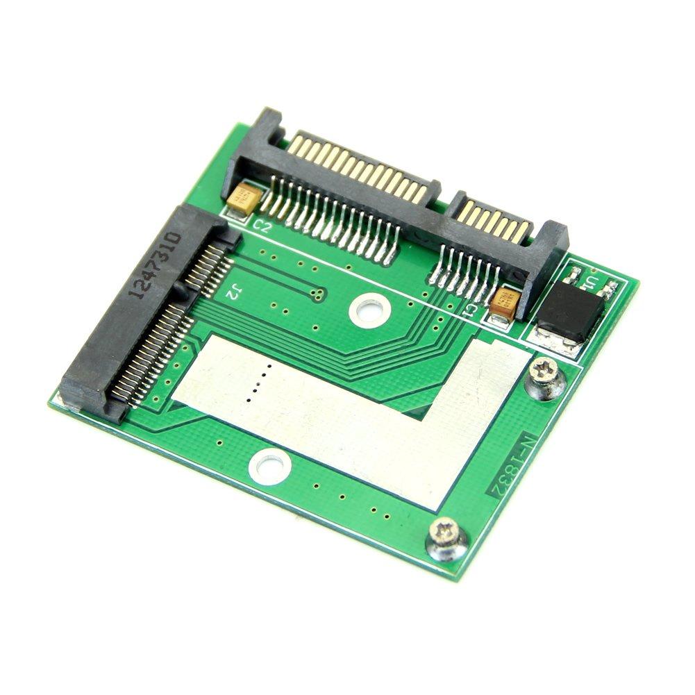 PROMOTION! Mini NEW PCI E Half Height mSATA SSD to 7mm 2.5 SATA 22pin Hard Sisk Drive PCBA cy u3 179 bk 50mm mini pci e msata 6gbps solid state ssd to usb 3 0 hard disk enclosure black