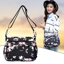New Women Shoulder Bags Handbag Flower Butterfly Design Printed Waterproof Nylon Retro Crossbody Casual Floral Bag