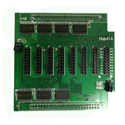 Hub41A Data Transfer Board, P3 P4 P5 P6 P7.62 P8 P10 Full Color LED Display Screen Controller,Receiving Card HUB41 Board