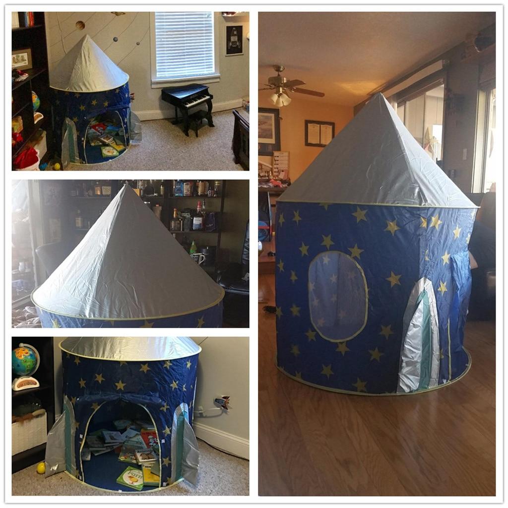 Tente de jeu pour enfants Polyester jouets de plein air pour enfants Pop up jouer fusée bateau jouer tente jouet pour enfants maison garçons filles 90 cm k422