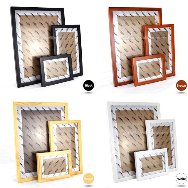 Online Shop MOLBAB Large Wood Photo Frames Stairwell Gallery Wall ...